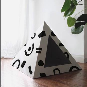 'Doodle' Cardboard Cat Pyramid