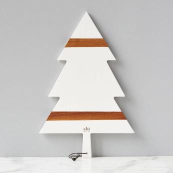 White Mod Tree Charcuterie Board, Large
