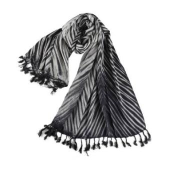 Grayscale Linen Shawl