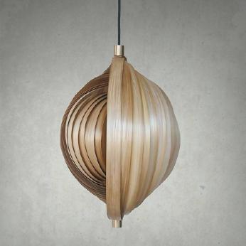 Bamboo Seashell Pendant Lamp,  MIANZI
