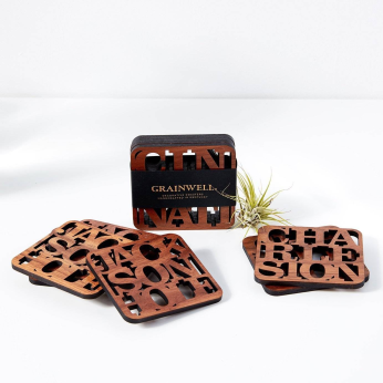 City Name Coaster Case Pack [of 5]