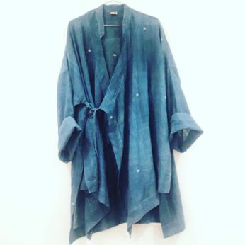 Costa Jacket 100% Handspun Handwoven Khadi Cotton Natural dyed