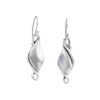Silver #5 Pod Earrings