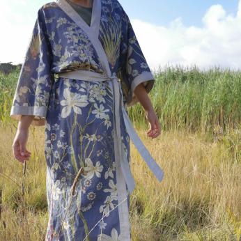 Japanese Kimono in hemp linen