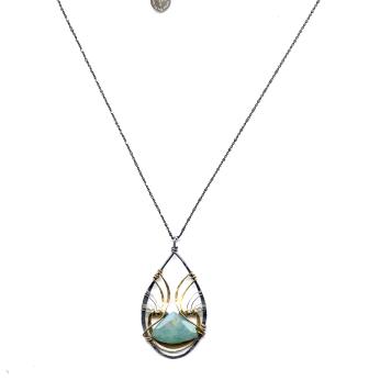 Amazonite Drop Pendant Necklace