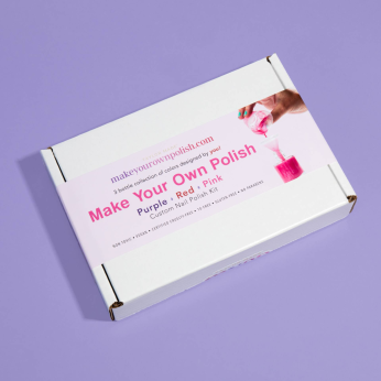 Make Your Own Polish Kit - PINK   PURPLE   RED