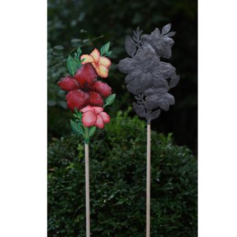 Hibiscus Garden Stake