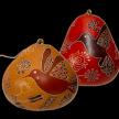 Hummingbird Doodle - Gourd Ornament