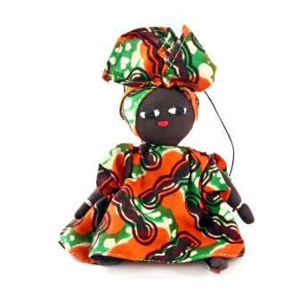 Burkina Baby Doll Holiday Ornament in Assorted Fabrics