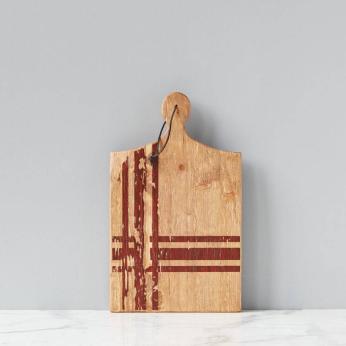 Red Tartan Charcuterie Board