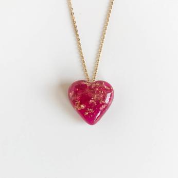 Eco-Resin Cast Mini Bubbly Heart Corazon Pendant