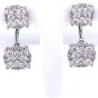 Pave Diamond Drop Earring