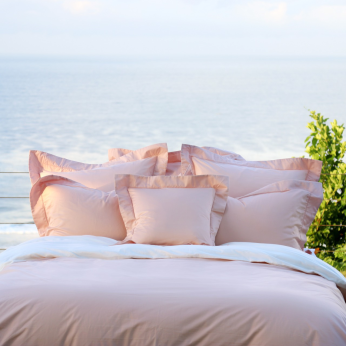 Luxury Duvet Cover Set, Brise Collection, Indi Pink