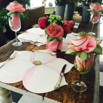 Hand-painted Flower Placemats