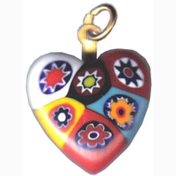 Heart Medium Bright Multicolored