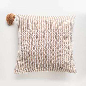 Handwoven Copper Road Pillow