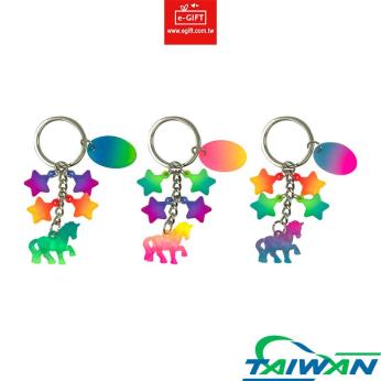 Unicorn & Star 4 Charms Keychain/ Keyring/ Key Holder