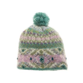 Cozy Ethnic Hat - Turquoise