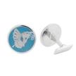 Butterfly enamel cufflink
