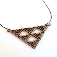 Warrior Necklace in cherry wood
