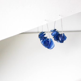Leona Deep Blue Drops / Sustainable Recycled Earrings