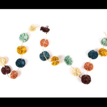 Multicolor Pom Pom Garland