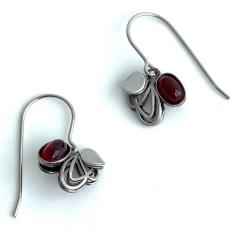 10.Handmade Jewelry - MINI WIRE HOOK EARRINGS 15 pcs. & DISPLAY (W)