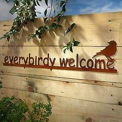 Everybirdy Welcome Metal Sign