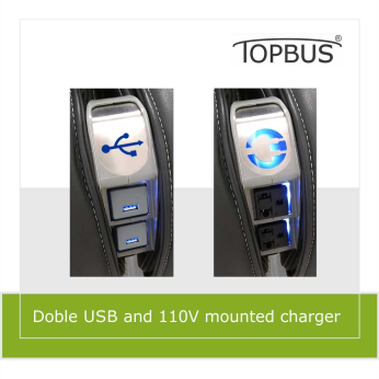 Doble USB and 110V mounted charger