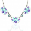 """Iris """"Jill's Garden"""" Flower Necklace"""