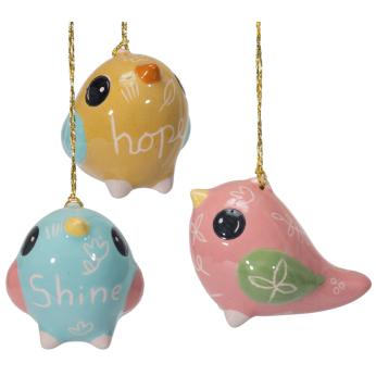 Uplifting Bird - Mini Glazed Ornament