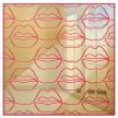 Cursive Lips | Sleek Mirrored Shadow Box Wall Art | Ready to Hang