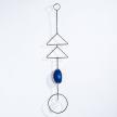 Blue Agate Crystal Wall Hangings