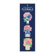 Ever Upward Florals Shaped Magnetic Bookmarks