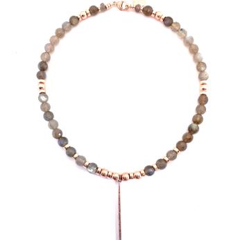 La Vie En Rose Labradorite Necklace