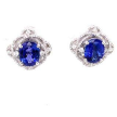 9.53 ct Oval Tanzanite Diamond Earring