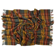 Prince of Scots Highland Tweed Pure New Wool Fluffy Throw ~ Antique Buchanan ~