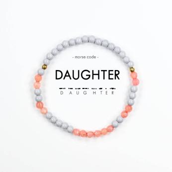 Morse Code Bracelet // Daughter