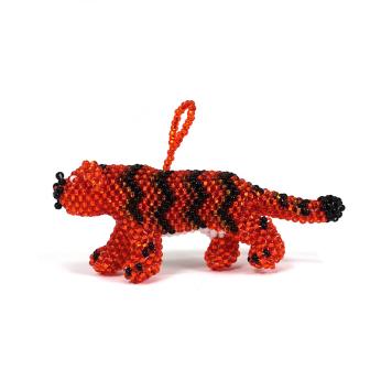 Tiger Beaded Ornament