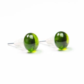 Stud Recycled Bottle Earrings