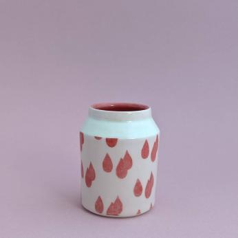 Raindrop Ceramic Bud Vase