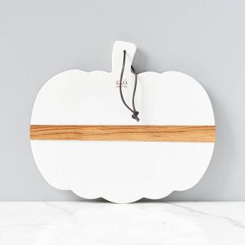 White Mod Pumpkin Charcuterie Board, Small