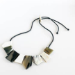 Up-Cycled 8 Pieces Short Horn Trapezoid Necklace