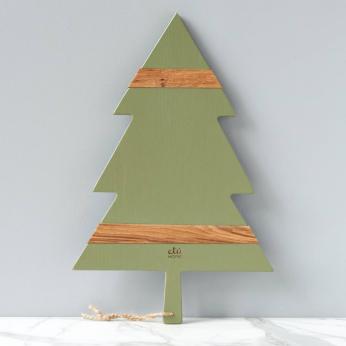 Sage Mod Tree Charcuterie Board, Large