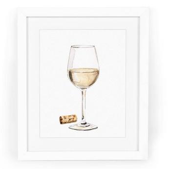 White Wine with Cork Art Print