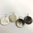 Up-Cycled SML Disk Horn Earrings