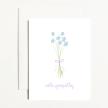 With Sympathy Blue Flower