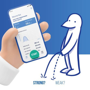 Convenient uroflow with your phone at home - FREE