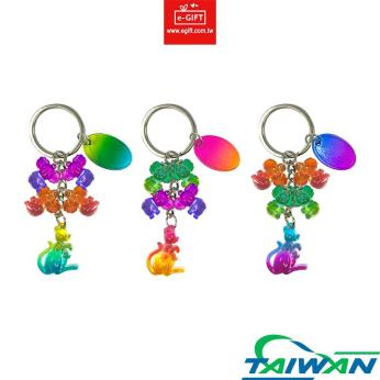 Kangaroo & Koala 4 Charms Keychain/ Keyring/ Key Holder