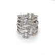 Multi-row Baguette & Round Diamond Ring